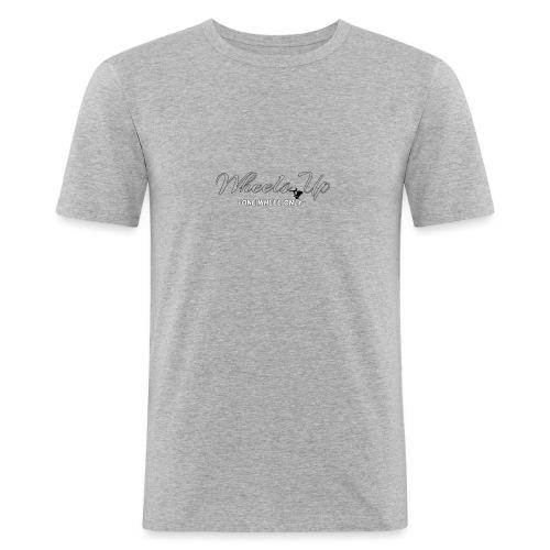 wheels up black figure - Men's Slim Fit T-Shirt