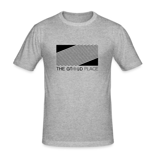 THE GOOOD PLACE LOGO - Mannen slim fit T-shirt