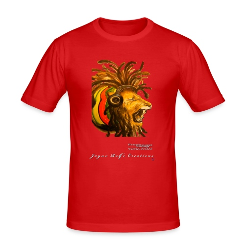 Dred Lion 7 png - Men's Slim Fit T-Shirt