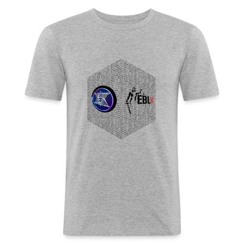 disen o dos canales cubo binario logos delante - Men's Slim Fit T-Shirt