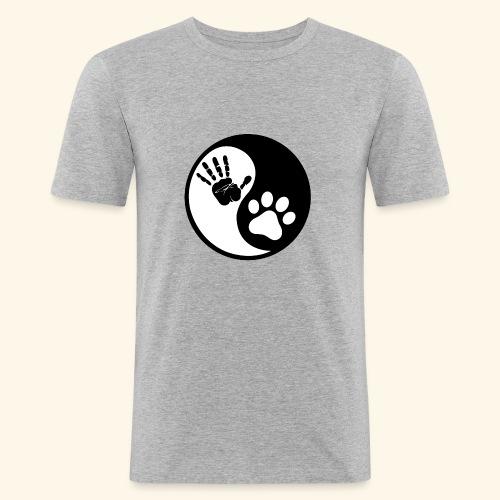 Hunde Yin Yang T-Shirt - Männer Slim Fit T-Shirt