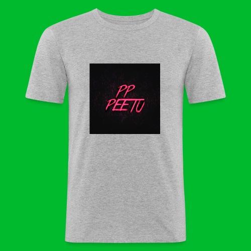 Ppppeetu logo - Miesten tyköistuva t-paita