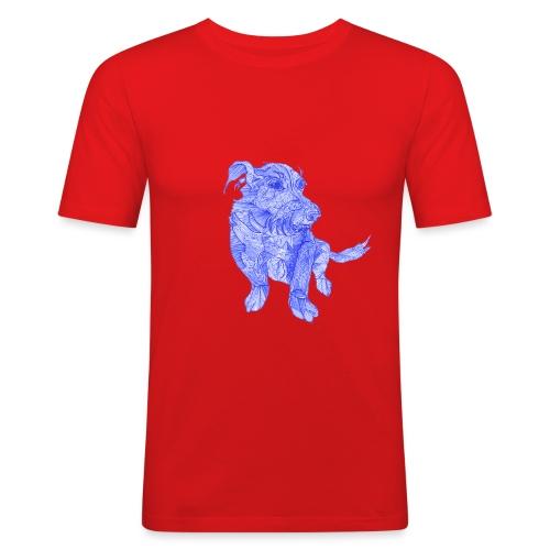 Das ist wohl ein chinesischer Drachen - Hund - Männer Slim Fit T-Shirt