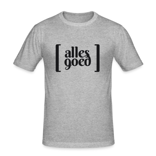 Alles Goed logo zwart - Mannen slim fit T-shirt