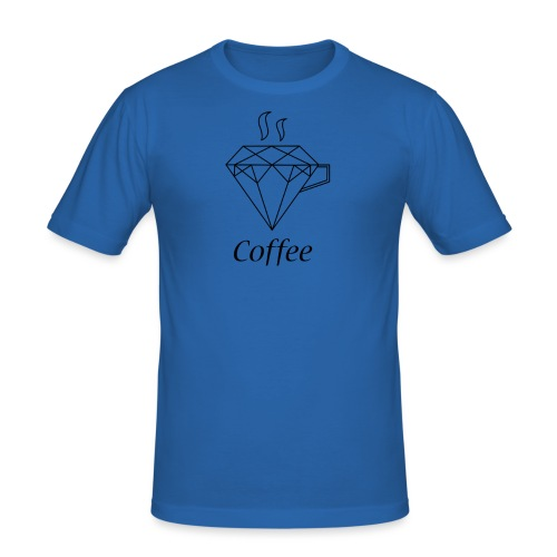 Coffee Diamant - Männer Slim Fit T-Shirt