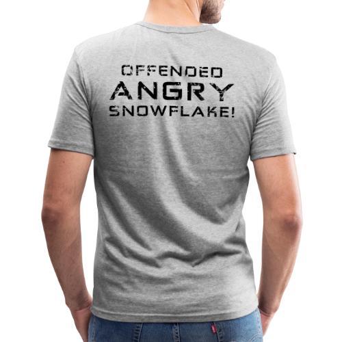 Black Negant logo + OFFENDED ANGRY SNOWFLAKE! - Herre Slim Fit T-Shirt
