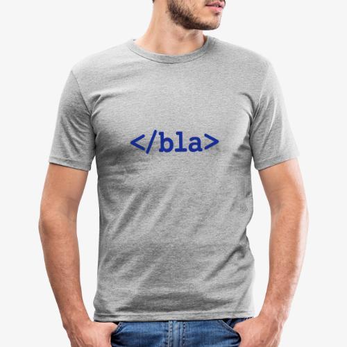 Bla HTML - Männer Slim Fit T-Shirt