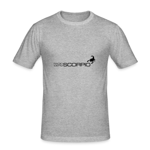 scorpio logo - Mannen slim fit T-shirt