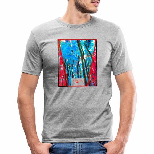 Natur Wald Forest Bäume - Männer Slim Fit T-Shirt