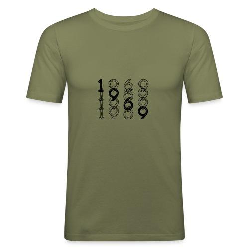 1969 syntymävuosi - Miesten tyköistuva t-paita