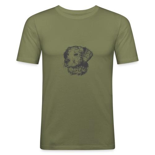 koiran kuva - Miesten tyköistuva t-paita