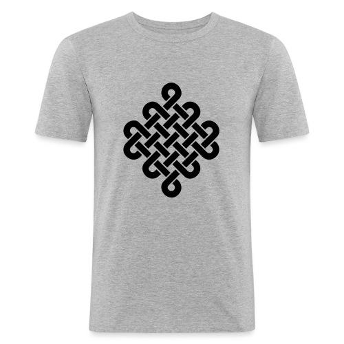 Unendlich Symbol Tattoo Buddhismus Knoten endlos - Männer Slim Fit T-Shirt