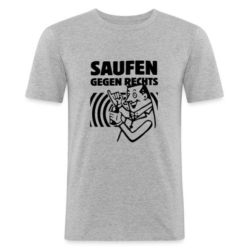 Saufen gegen Rechts - Männer Slim Fit T-Shirt