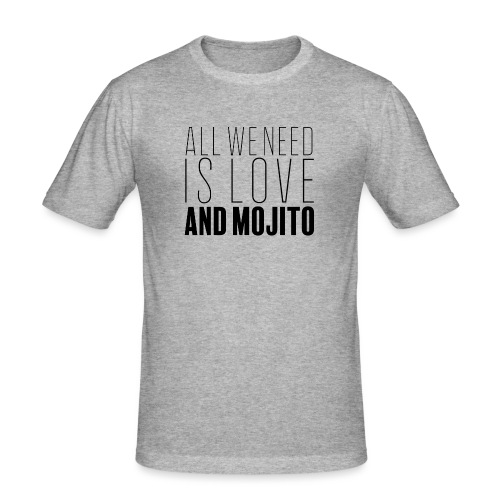Love and Mojito - T-shirt près du corps Homme