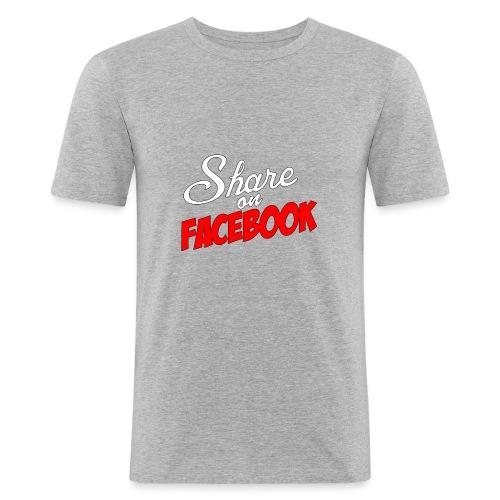 Share_on_fb_RED - Slim Fit T-skjorte for menn