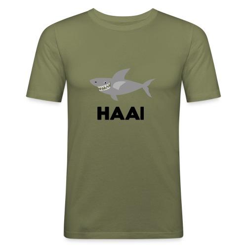 haai hallo hoi - Mannen slim fit T-shirt