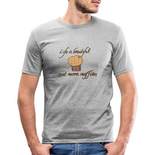 Eat more Muffins - Männer Slim Fit T-Shirt