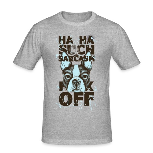 sarcasm png - Männer Slim Fit T-Shirt