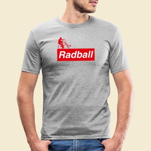 Radball   Red - Männer Slim Fit T-Shirt
