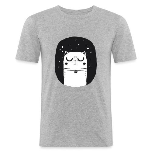 WHITE_CAT - Männer Slim Fit T-Shirt