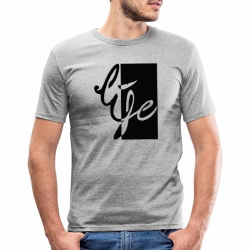 Life Logo 02 - T-shirt près du corps Homme