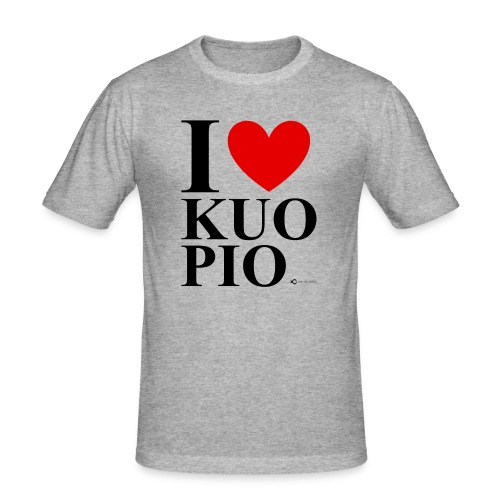 I LOVE KUOPIO ORIGINAL (musta) - Miesten tyköistuva t-paita