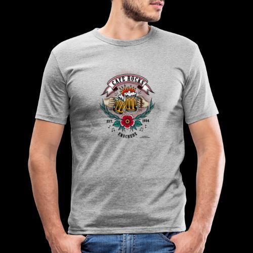Old School Tattoo by Alexandra Apeldoorn - Mannen slim fit T-shirt