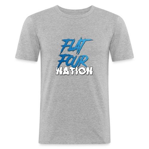 Flat Four Nation - Men's Slim Fit T-Shirt