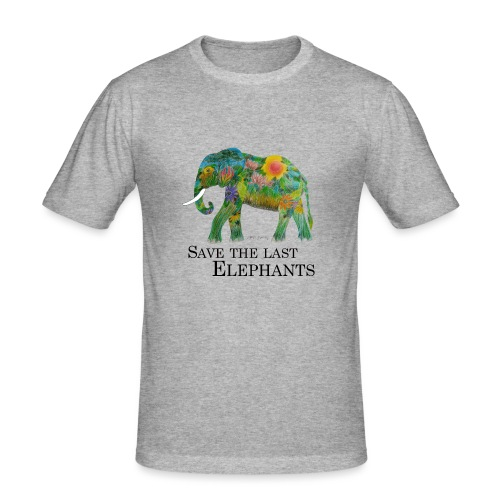 Save The Last Elephants - Männer Slim Fit T-Shirt