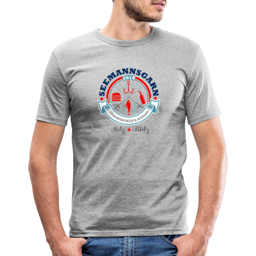 geweihbär Seemannsgarn 3 - Männer Slim Fit T-Shirt