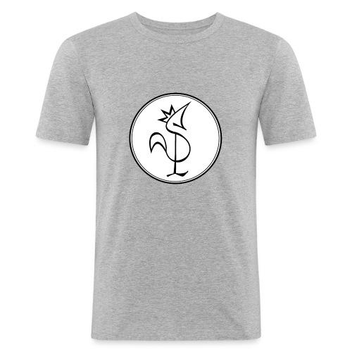 Pitou Noir fond blanc - T-shirt près du corps Homme