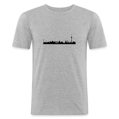 berlin skyline - Männer Slim Fit T-Shirt