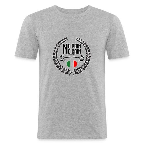 Logo circolare - Maglietta aderente da uomo