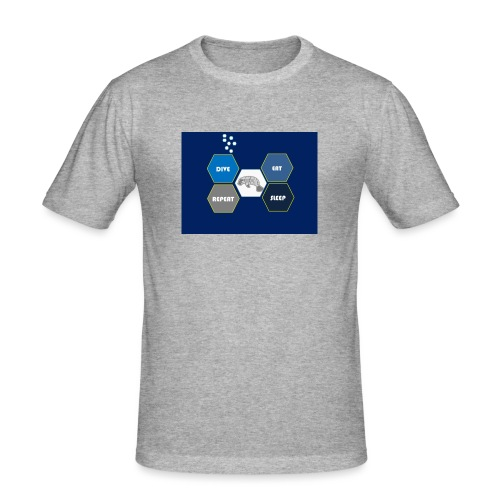 Dive_sleep_repeat_Hexagonal_v1-0_20161118 - Men's Slim Fit T-Shirt