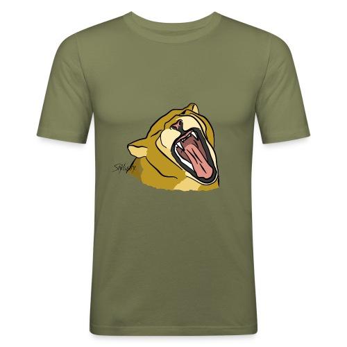 Gähnender / brüllender Löwe - Männer Slim Fit T-Shirt