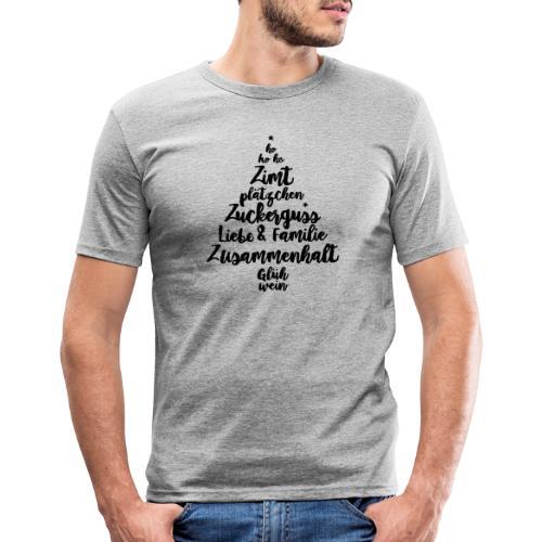 Weihnachtsgruß - Männer Slim Fit T-Shirt