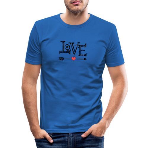 Love flêche - T-shirt près du corps Homme