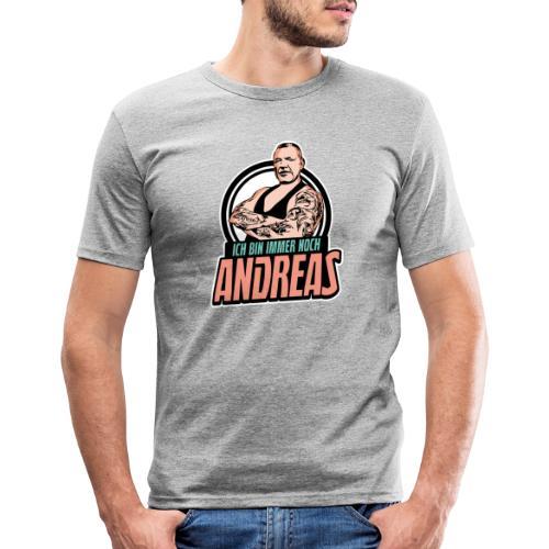 Immer-Noch-Andreas-Logo BUNT - Camiseta ajustada hombre