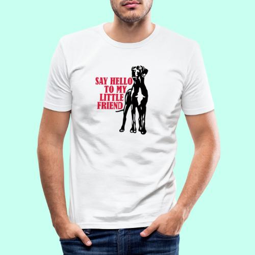 Say Hello To My Little Friend - Männer Slim Fit T-Shirt