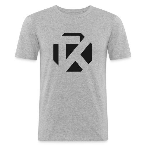 Logo TK Noir - T-shirt près du corps Homme