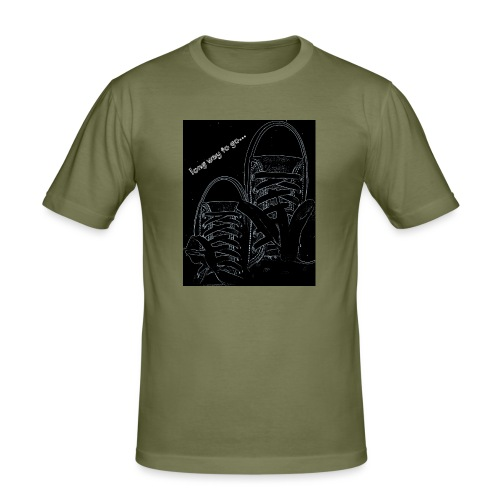 Long way to go - Men's Slim Fit T-Shirt