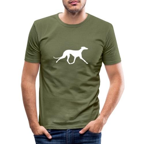 Galgo trabend - Männer Slim Fit T-Shirt