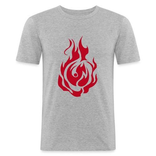 feu - T-shirt près du corps Homme