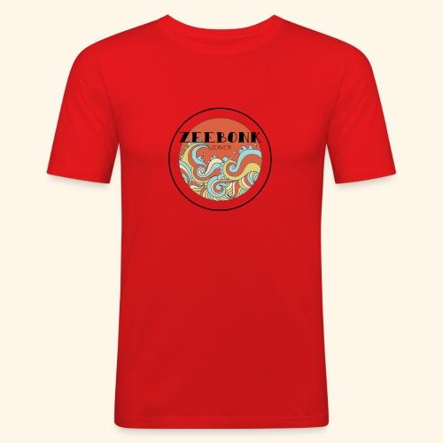 zeebonkwaves - Mannen slim fit T-shirt