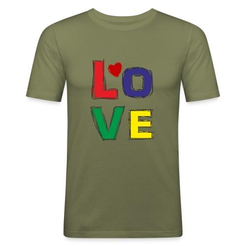 LOVE - Männer Slim Fit T-Shirt