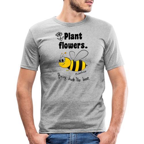 Bees8-1 Bringt die Bienen zurück! | Bookrebels - Men's Slim Fit T-Shirt