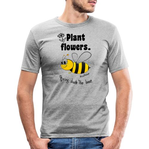 Bees8-2 Bringt die Bienen zurück! | Bookrebels - Men's Slim Fit T-Shirt