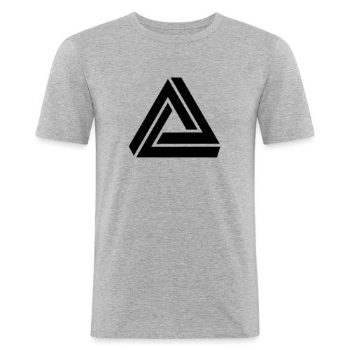Tribar Dreieck, Unmögliche Figur Optische Illusion - Männer Slim Fit T-Shirt