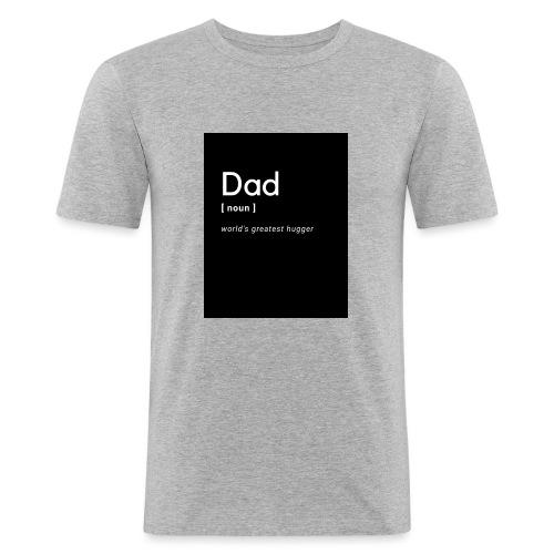 Papa ist der Beste - Männer Slim Fit T-Shirt