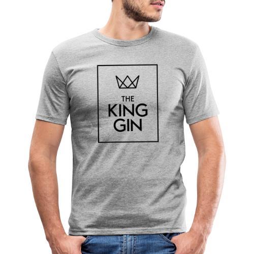 The King Gin Logo schwarz RGB Rahmen - Männer Slim Fit T-Shirt